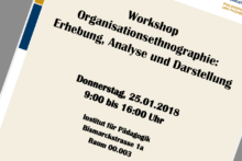"Zum Artikel ""Workshop Organisationsethnographie"""