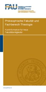 Philosophische Fakultät und Fachbereich Theologie - Kurzinformation für neue Mitglieder