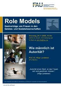 Plakat Gastvortrag HIlge Landweer
